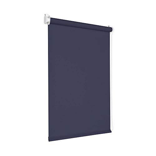 Victoria M. Tenebra Verdunkelungsrollo Rollo ohne Bohren für Fenster und Türen, 35 x 160 cm, dunkelblau