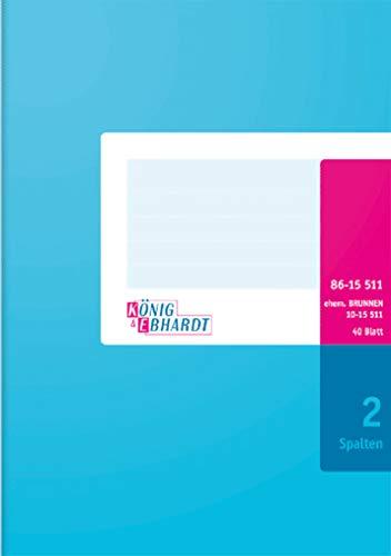 König & Ebhardt 8615511 Geschäftsbuch / Spaltenbuch (A5, mit festem Kopf, 80g/m²)