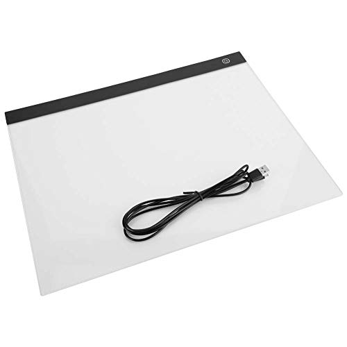 A3 Ultra-Thin Portable LED Copy Board Caja de luz, Art Light Up Stencil Doodle Sketch Glow Tracing Dibujo para colorear Bloc de notas Tablero de mesa para niños