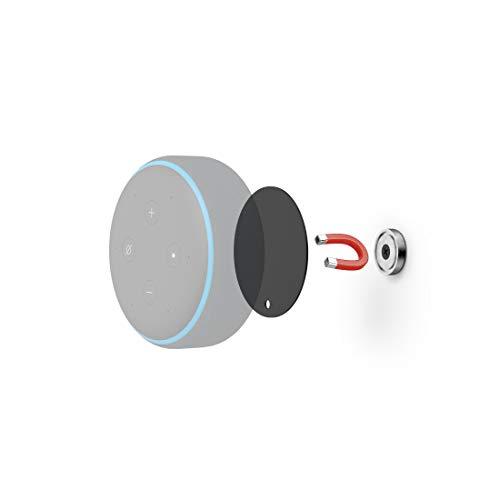 Hama Support Mural magnétique pour Amazon Echo Dot (3 Gen)/Echo Input Noir