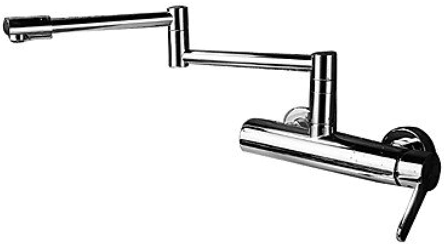 GJR-L Modern Pot Filler Centerset redatable Ceramic Valve Two Holes Single Handle Two Holes Chrome, Kitchen Faucet