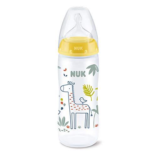 Biberón First Choice+ PP 360 ml (XL) Jungle Animals Amarillo Silicona NUK 6-18 meses