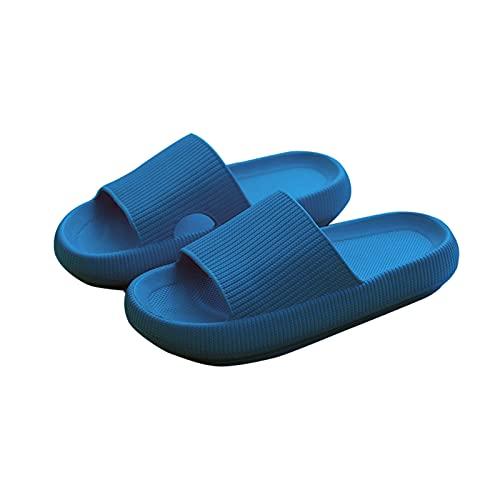XINSTAR Zapatillas antideslizantes ultra suaves de 4 cm EVA Flip Flop Athletic sandalia para verano baño hogar oficina sólido 5 colores a elegir