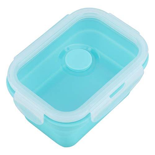 BOLORAMO Fiambrera contenedor de Comida, refrigeradores Aptos para microondas, Tarro de Silicona para Comida, 4 tamaños, Plegable para Comida para Llevar(Menta Verde, 350 ml, 12)