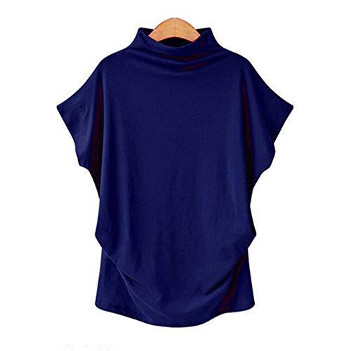 Morton PegfwaS Damen Rollkragenpullover Top Kurzarm T-Shirt