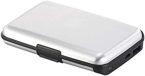 Xcase Scheckkartenbox: 2in1-RFID-Kartenetui & Powerbank, 5 Fächer, 2.500 mAh, 1 A, 5 Watt (Kreditkartenetuis)