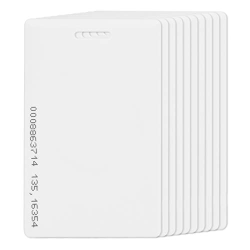 Bicaquu 10pcs 125Khz RFID Tarjeta de Acceso de Escritura Tarjeta de Acceso de Entrada de Control de Puerta de proximidad Tarjeta de Acceso Gruesa