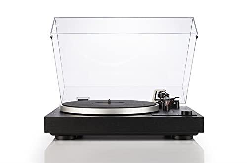 Dual CS 518 HiFi-Plattenspieler, Riemenantrieb, Manueller Vinyl-Plattenspieler mit integriertem Phono-Vorverstärker, DREI Geschwindigkeiten, Abstastsystem Ortofon 2M Red, Schwarz