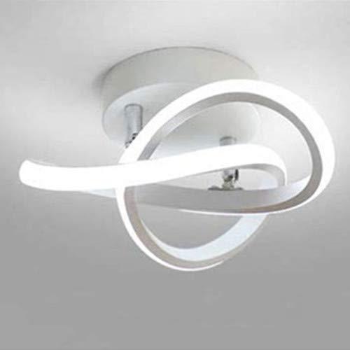 LED Lámpara de Techo Moderna Blanca Plafón LED Techo Moderno Blanco Frío 6500K Luz de Techo para Dormitorio Baño Cocina Sala de Estar Pasillo Comedor Balcón