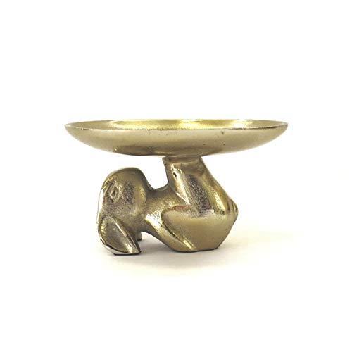 Colmore Schale Dekoschale Ostern Hase Bronze Gold 18 x 18 x 10 cm
