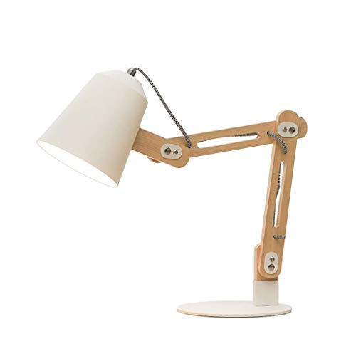 JYDQM Tabla lámpara de mesa Iluminación de interior moderno minimalista del arte moderno lámpara de mesa de noche dormitorio lámpara de mesa lámpara de madera sólida simple decoración de la lámpara de