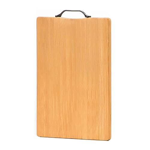 WAA Tabla de Cortar, Tablero de Cocina de Bambú con Asas de Carbono Tabla de Cortar Rectangular de Doble Cara Engrosada para Cortar Frutas, Verduras y Carne (PequeñA/Mediana/Grande)