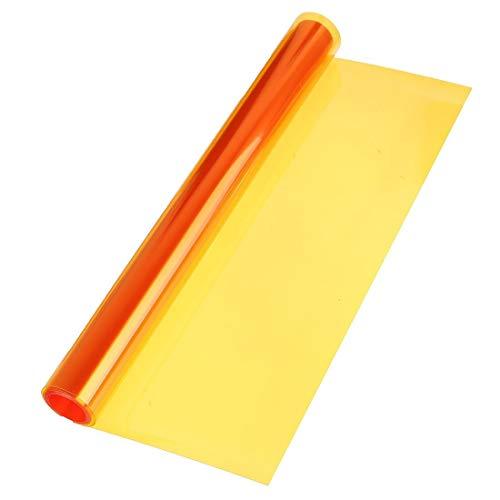 Romantische nacht 99 auto venster film koplamp folies Tint Vinyl Auto Oranje Cover 30cm X 120cm ##
