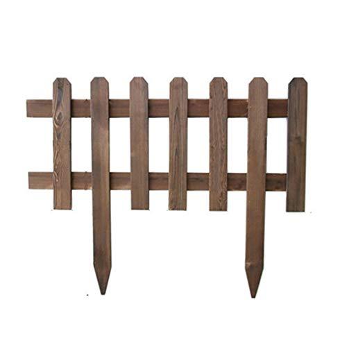 Panel Picket Fencing aus Holz, Pflanze Dekorative Gartenzaun, Rand Abschnitt Edging Dekor, Border Feste Zäune, 92x45cm, Brown