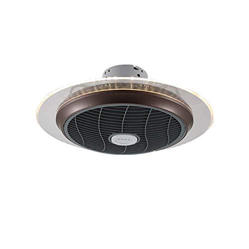 Ventiladores de techo retro mediterráneos con kit de luces Candelabro, lámpara de ventilador de techo invisible creativa de moda con 3 velocidades de viento ajustable, atenuación y control remoto