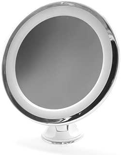 Larga Fogless Specchio da Doccia Specchio Senza Nebbia Trucco Barba Specchio da Parete Specchio Leggero Senza Cornice con 2 Pezzi Ventosa Gancio Adesivi 11 x 7,5 Pollici// 28 x 19 cm