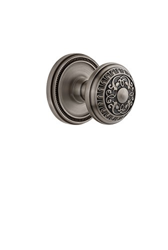 Grandeur 813589 Soleil Rosette Passage with Windsor Knob in Lifetime Brass, 2.75