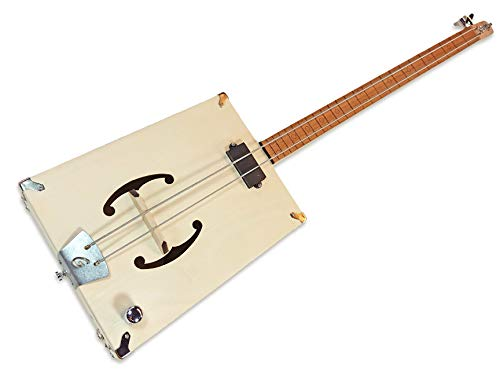 The'G-Bass' 2-string DIY Electric Bass Guitar Kit - Fully Fretted