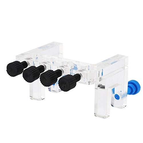 Folany Support de Tube de Pompe doseuse, Support de Montage de Tube Souple en Acrylique, Support de Tube Acrylique léger, pour Aquarium Facile à Utiliser Pas Facile à casser pour Aquarium
