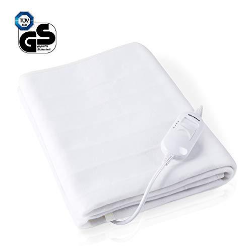 MaxKare Wärmeunterbett 150 * 80 Heizdecken fürs Bett Schnellheizung mit 3 Temperaturstufe Überhitzungsschutz Electric Blanket, Waschbar