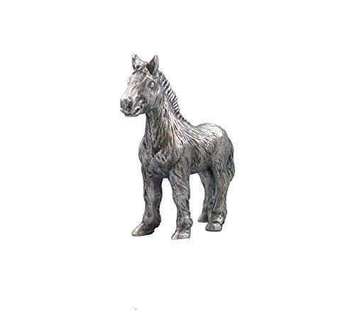 Zinngeschenke Pferd aus Zinn von Hand patiniert, vollplastisch, Setzkastenfigur, Vitrinenfigur, Sammlerstück, Zinnfigur, Zinnfiguren, Dekoration, Deko (LxH) 6,5 x 6,8 cm
