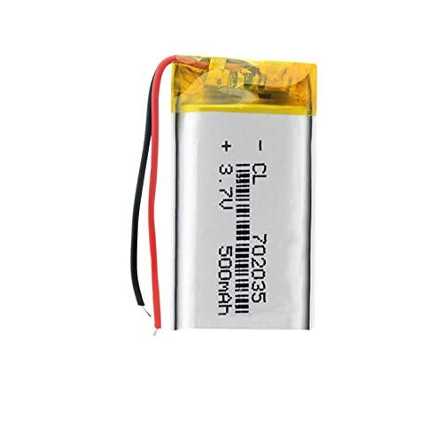 1/2/4 Piezas 3,7 v 500 Mah Batería Recargable De PolíMero De Litio 702035 Celda De Iones De Litio para Juguete Mp3 Mp4 Mp5 GPS BT Altavoz Auriculares CáMara 4pcs