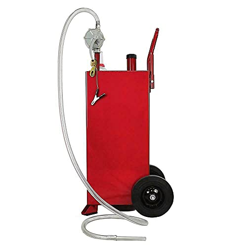 Hot 30 Gallon Gas Caddy Tank Storage Drum Gasoline Diesel Fuel Transfer Kit