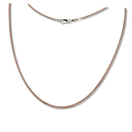 SilberDream D3SDK21545E - Collier in argento 925 placcato oro, con treccia, 45 cm, colore: Rosa