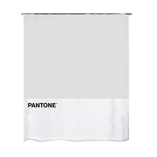 Balvi Cortina baño Pantone Color Gris Cortina Impermeable para la Ducha y bañera, de Estilo Moderno y Original Poliéster 200x180x0,25 cm