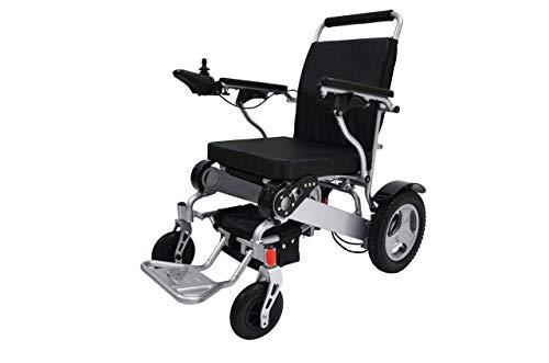 """Bangeran Elektrischer Rollstuhl mit Joystick Faltbar Leicht, 50 lbs mit Batterien, 360 lbs stützen, Flugzeug-Grad-Aluminiumlegierungs-Rahmen Viel Stärker, 12\"""" steife Gummireifen-Hinterräder Stabiler"""