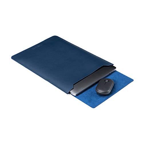 ONE LIFE 13 Zoll Leder Laptop Hülle mit Mousepad für 13 Zoll MacBook Pro Modell A2338 M1 A2251 A2289 A2159 A1989 A1708 A1706 und MacBook Air A2337 M1 A1932 A2179 (13 Zoll Marineblau)