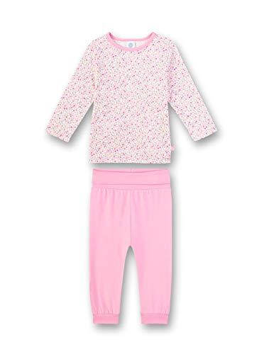 Sanetta Baby-Mädchen Pyjama Lang Strampler, Rosa (rosa 3813), 98 (Herstellergröße:098)