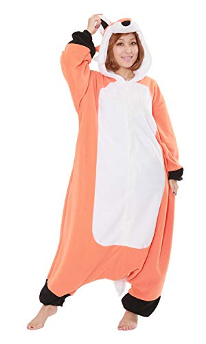 SAZAC Fleece Pyjama Kigurumi - Roter Fuchs