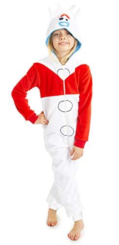 Disney Toy Story 4 Pijamas de Una Pieza Forky, Mono Infantil Entero Super Suave, Pijama Onesie Capucha, Regalos para Niños Niñas (4-5 años)