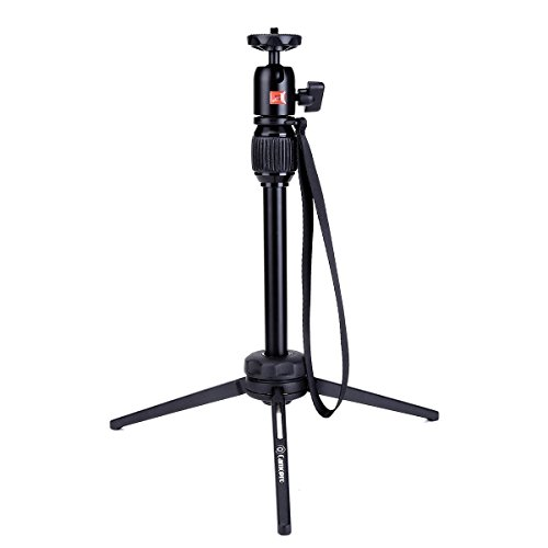 Tripod Stand - Camopro 15.7 Inches Aluminum Alloy Handheld Tabletop Tripod with Swivel Ball Head for Pico Projector, Pocket Projector, and Mini Projector - Desktop Tripod