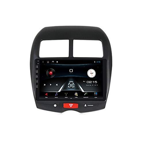 ADMLZQQ Radio de Coche Navegación GPS, 10 Pulgadas 2 DIN para Mitsubishi ASX 2010-2017 con Bluetooth Carplay DSP SWC RDS AUX Soporte USB Control Volante Cámara Marcha atrás Monitor reposacabezas,M150