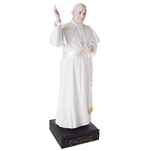 Roman Pope Francis Figurine 10.75 inch Religious Catholic Church Papacy 40445