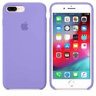 Capa para iPhone 7 e iPhone 8 de silicone e interior Aveludado (Lilás)