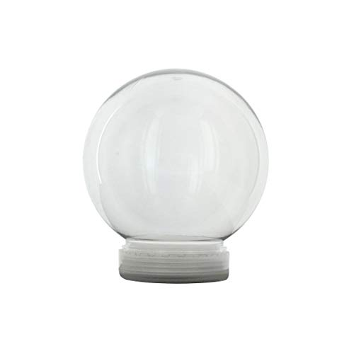 Creative Hobbies 4 Inch DIY Clear Plastic Water Globe Snow Globe with Screw Off Cap -Great for DIY Crafts