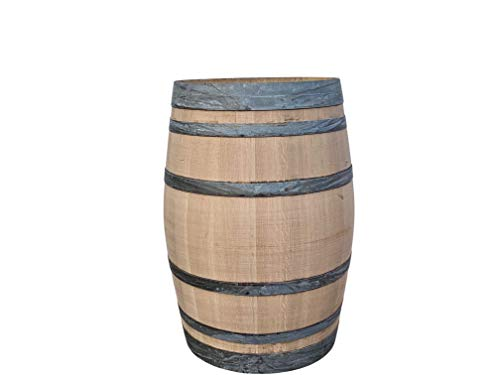 Tropictrees Dekofass - Eichen 225L - Stehtisch aus gebrauchtem Weinfass - Gartentisch aus Holzfass - Fass geschliffen