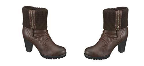 Jana Damen Winterstiefel Stiefeletten Stiefel, 412577 EU 36G UK 3.5G, Braun