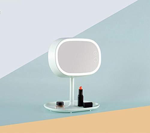 ERM Maquillage Miroir Lampe Maquillage Rechargeable Double Usage Portable Smart Gradation Miroir Lumière Princesse Net Table Rouge avec des Lumières,Green