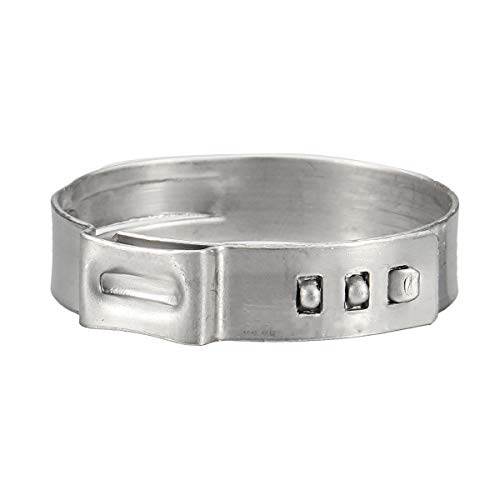 ILS – 50 unidades 1 pulgada acero inoxidable oído PEX Clamp Cinch Rings Crimp Pinch Fitting Tube