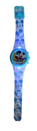 Mickey Mouse Reloj Digital led Pulsera, Adultos Unisex, Multicolor, Unico