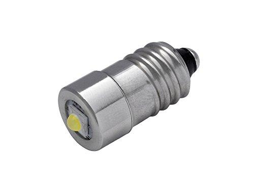TorchLED10 - Energiesparende 1 Watt LED-Ersatzbirne für Taschenlampen | Schraubgewinde E10 | 1–9 Volt