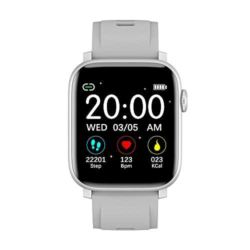 Reloj Inteligente a Prueba de Agua IP68 Monitor de Ritmo cardíaco para Dormir Pulsera de planificación-Gris