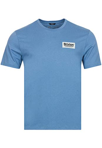Brixton Men's T-Shirt, Slate Blue, L