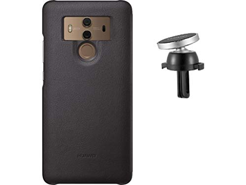 Huawei Magnetic Phone Case and Magnetic Car Phone Mount Holder Kit Wireless Car Kit for Mate 10 Pro, Mate 10 Porsche Design - Brown
