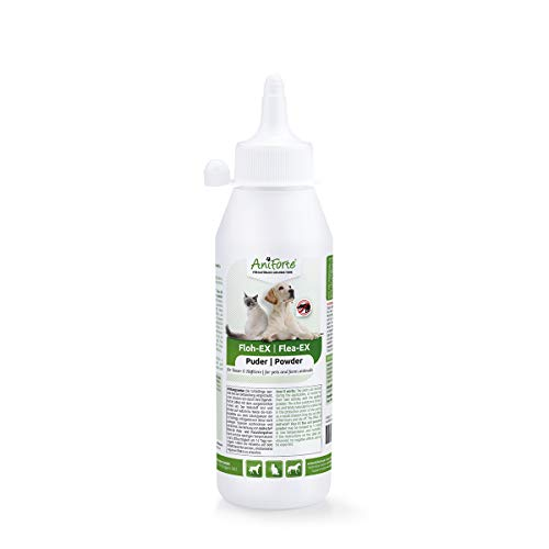 AniForte Floh-EX Pulver 250 ml für Hunde, Katzen, Pferde, Haus- und Hoftiere, Natürliche Abwehr...