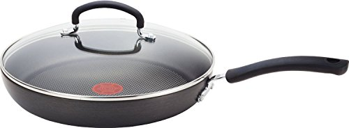 T-fal E91898 Ultimate Hard Anodized Titanium Thermo-Spot 12-Inch, Gray (Renewed)
